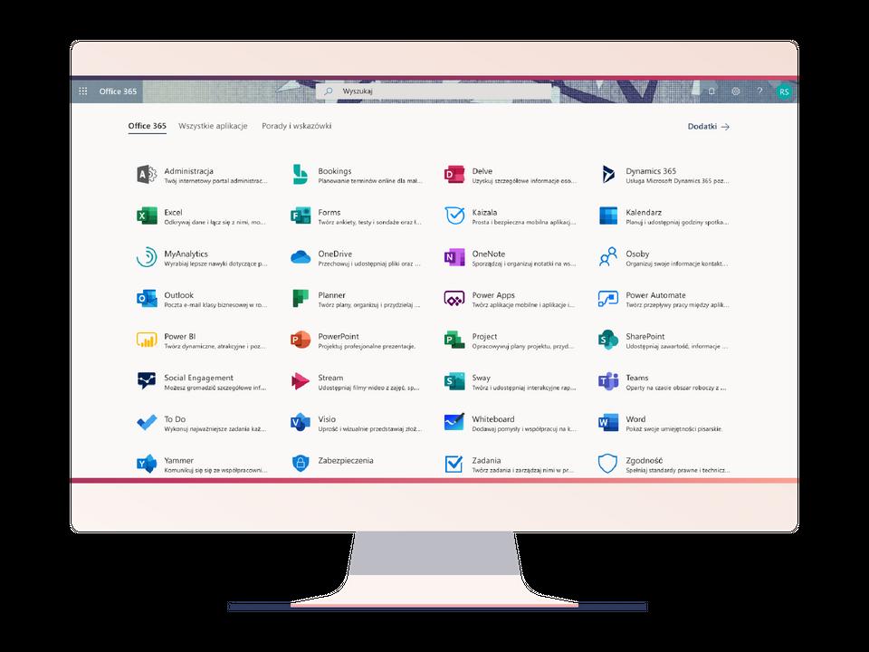 Aplikacje w Microsoft Office 365 on-line